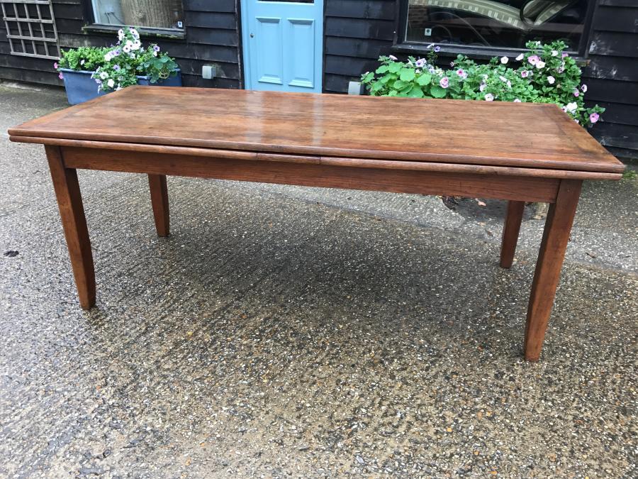 Antique Oak Extending French Farmhouse Table C1840
