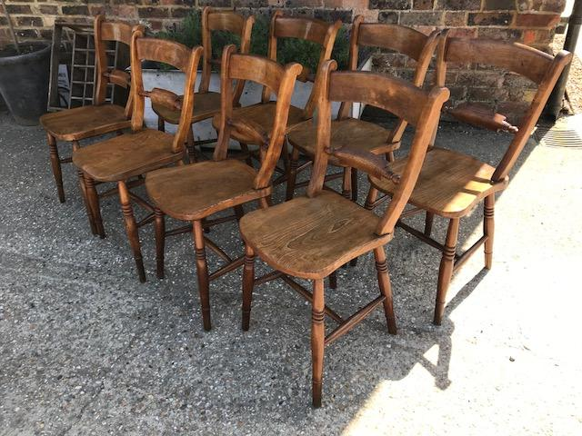 Antique Oxford Scroll back chairs