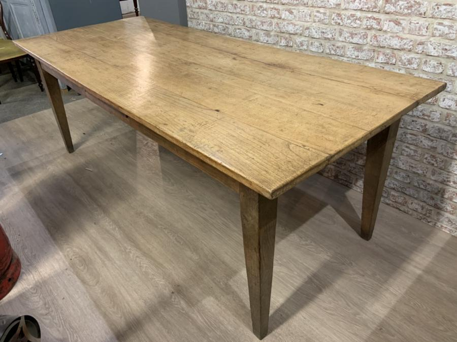 Antique Pale Ash Farmhouse Table