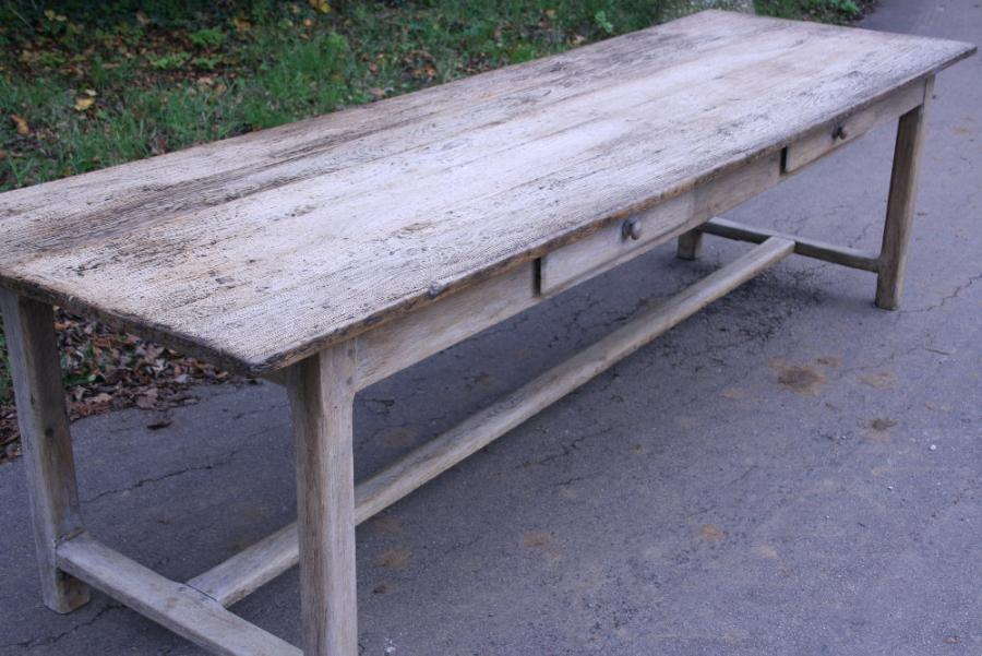 Antique Pale Oak Refectory Table