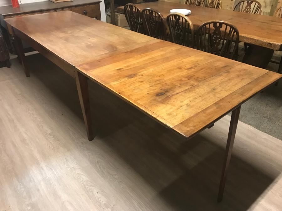 Cherry Antique Dining Table With Extending Leaf