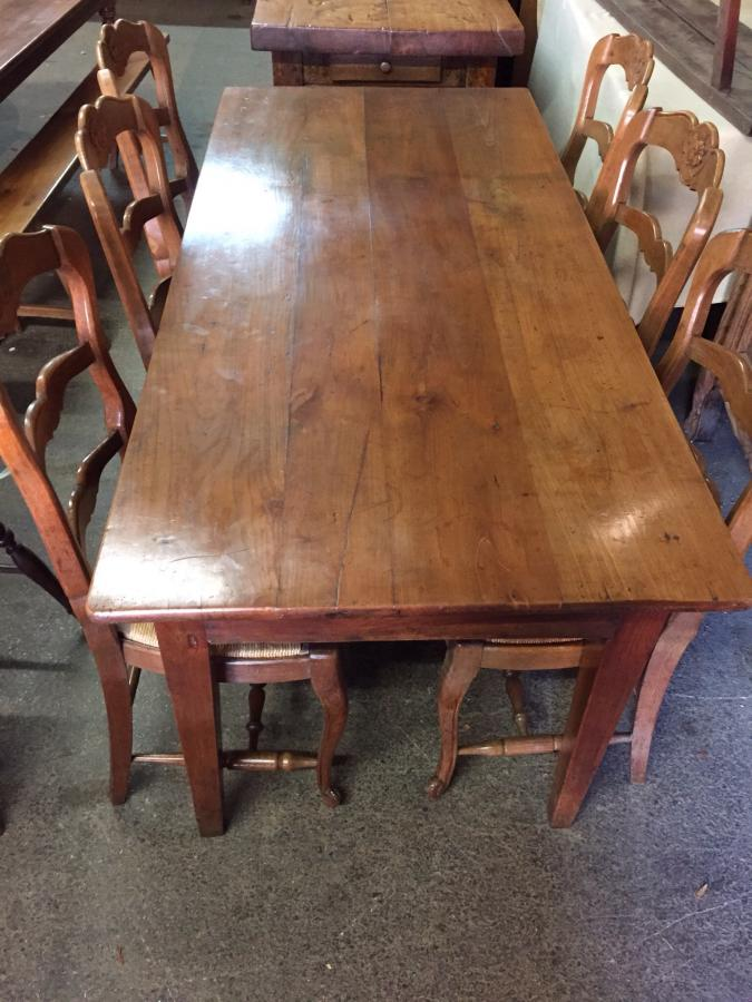 Cherry antique French farmhouse table