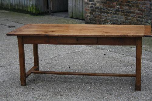 Cherry Antique H/Stretcher Table