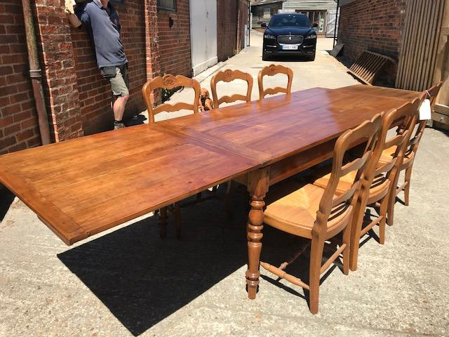 Cherry Antique Single Draw Leaf Table