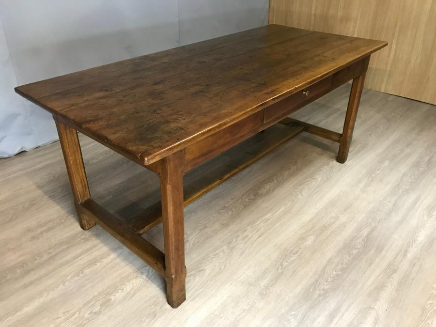 Rustic cherry farmhouse table