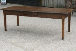 Chestnut farmhouse table