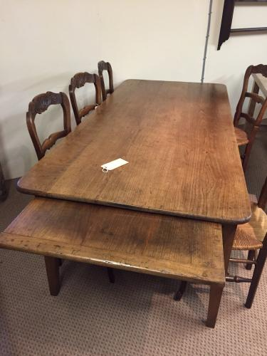 Country Cherry French farmhouse Table with Bread Slide