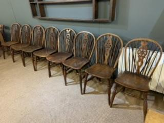 Early 19th Century Windsor Wheel Back Chairs