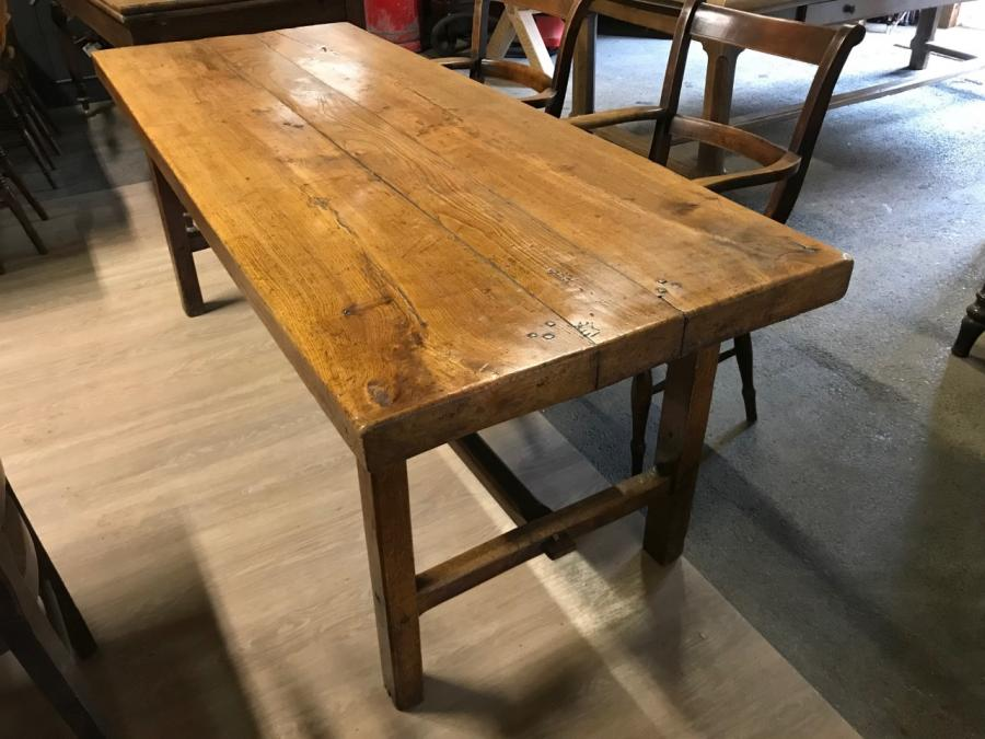Elm 19th Century Normandy Three Plank Top