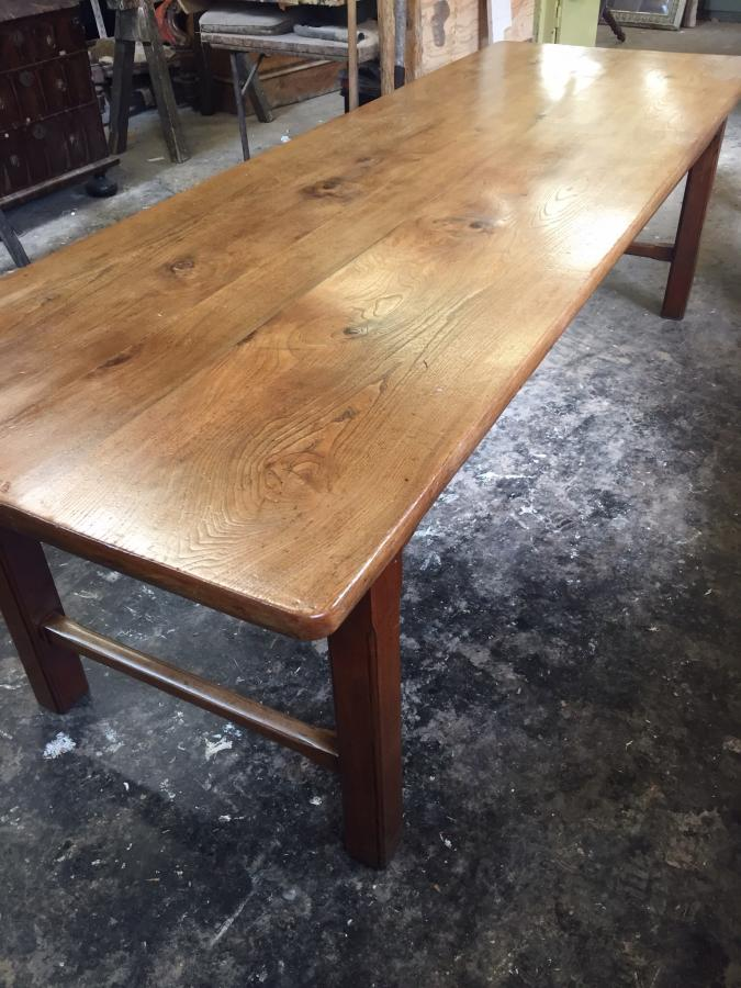 Elm gorgeous refectory antique farmhouse table