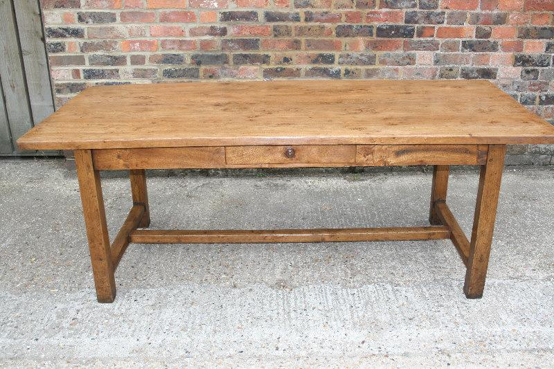 Elm H Stretcher  Table