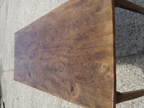 Elm twin plank top Antique table