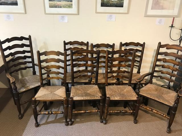English Ladderback chairs