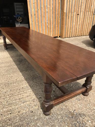 Exceptionally large oak table