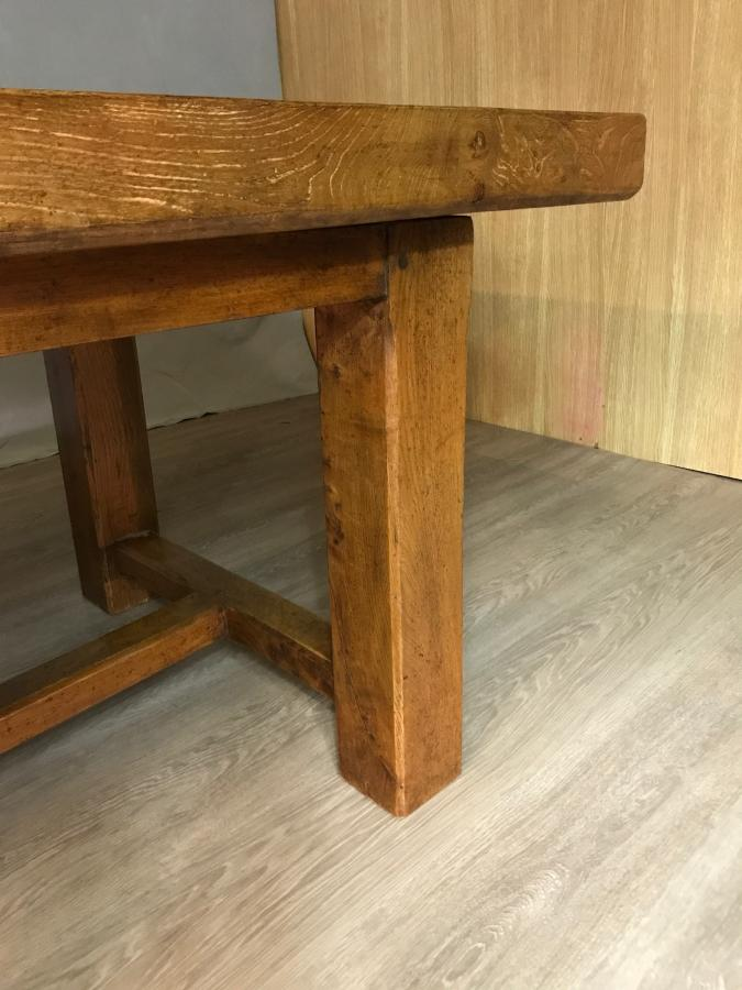 Exceptionally large chunky Farmhouse Table with thick top
