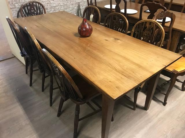 Cherry Tapered Leg Dining Table