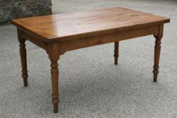 French Cherry extending farmhouse table
