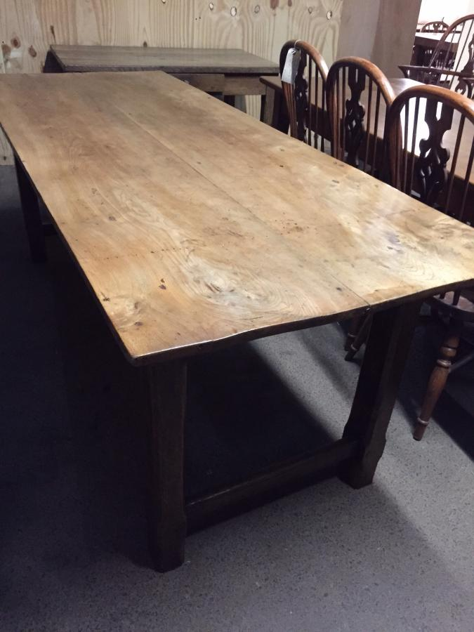 French Elm H- Stetcher Table