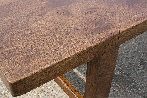 French Table. 2 plank elm top.