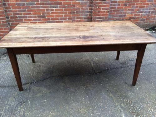 Gorgeous wide chestnut tapered leg table