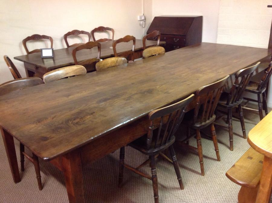 Large Antique Dining Table French Farmhouse