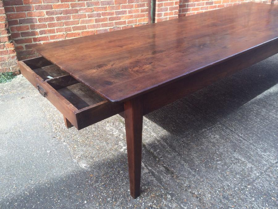 Large antique dining table