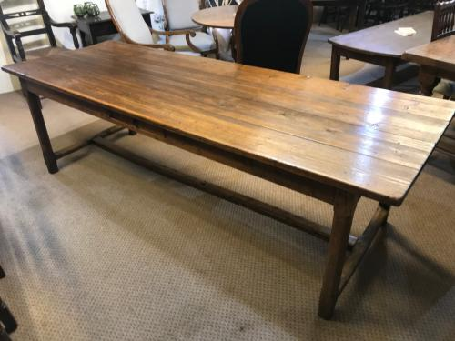 Large Antique Pine and Elm Farmhouse Table