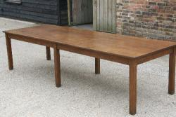 Large Oak 6 Legged Table