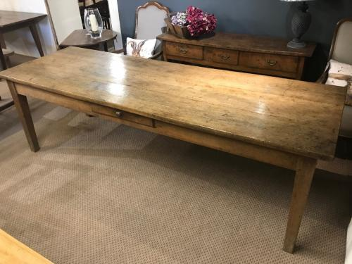 Large Pale Oak French Farmhouse Table