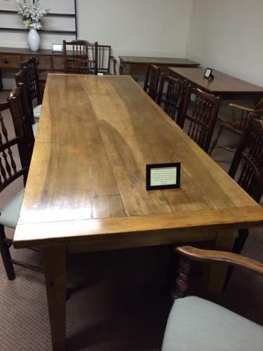 Large Walnut Antique Farmhouse Table