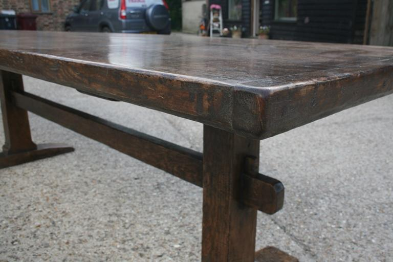 Late 17th Century Style Ash Trestle Table