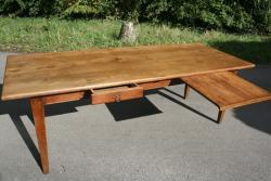 Late 19th century elm farmhouse table