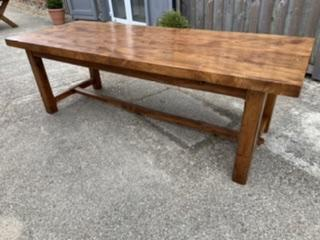 Late 19th Century Elm Thick Top Farmhouse Table