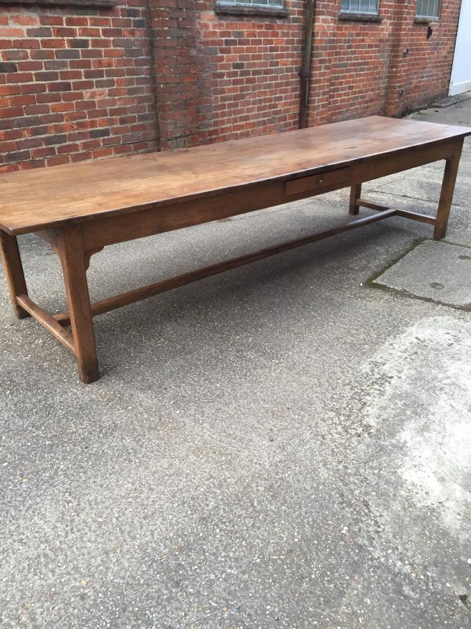 Long antique farmhouse table