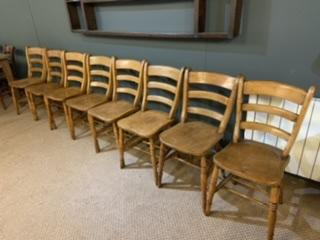 Mid 19th Century Set Of Eight Oxford Double Bar Back Chairs