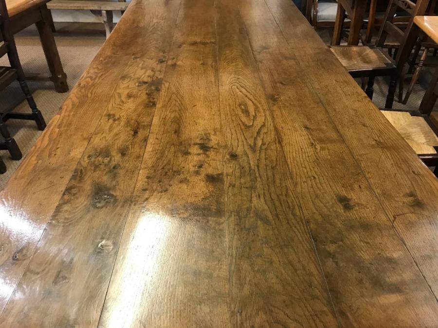 Oak 19th Century Wide Dining Table