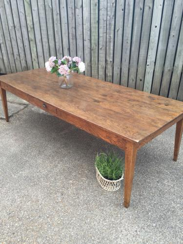 Oak antique farmhouse table