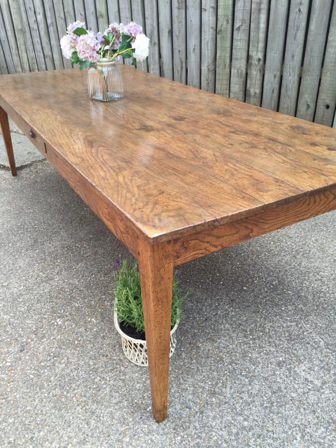 Oak Antique Farmhouse Table Antique Tapered Leg Oak