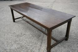 oak antique H stretcher table