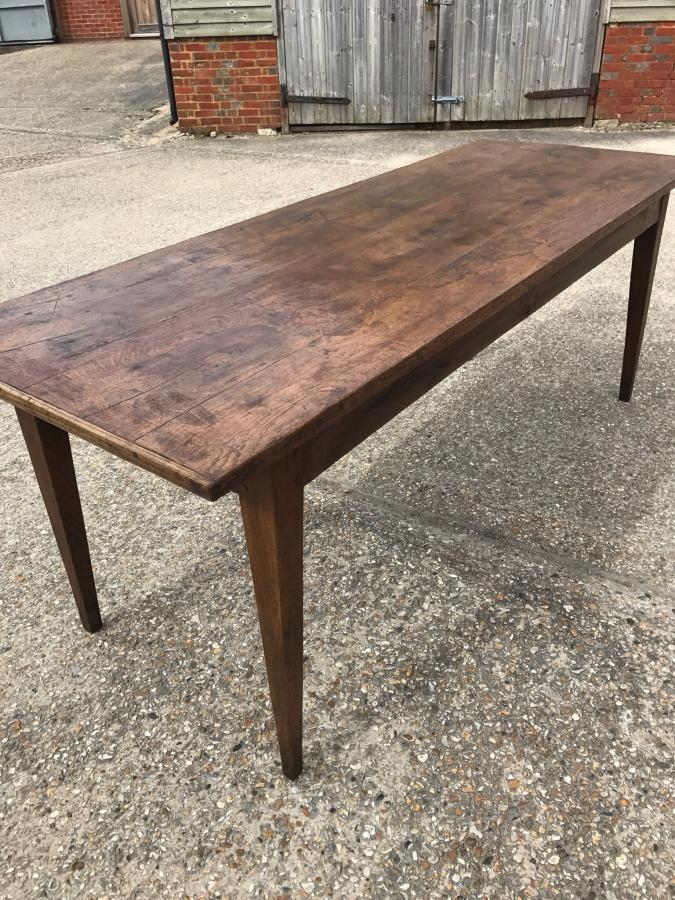 Oak rustic farmhouse table
