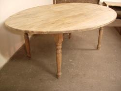 Oval 2 Flap table. London Plain wood