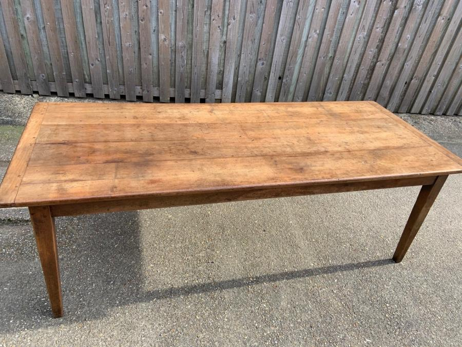Rustic Antique Cherry Farmhouse Table with slide