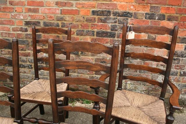 Six English Ladderback chairs