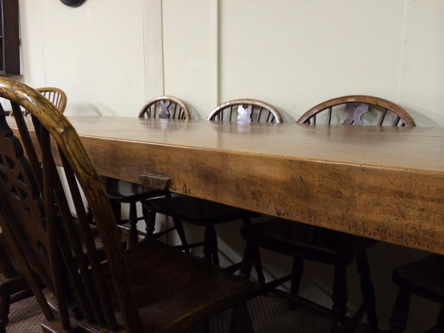 Thick top Beech 8ft antique table