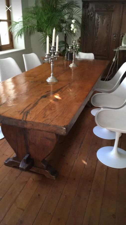 Thick Top Rustic Antique Oak Table