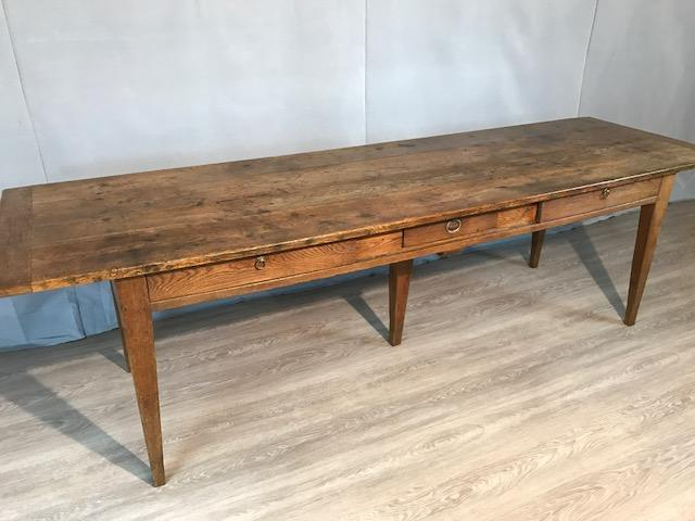 19th Century Three drawer oak table