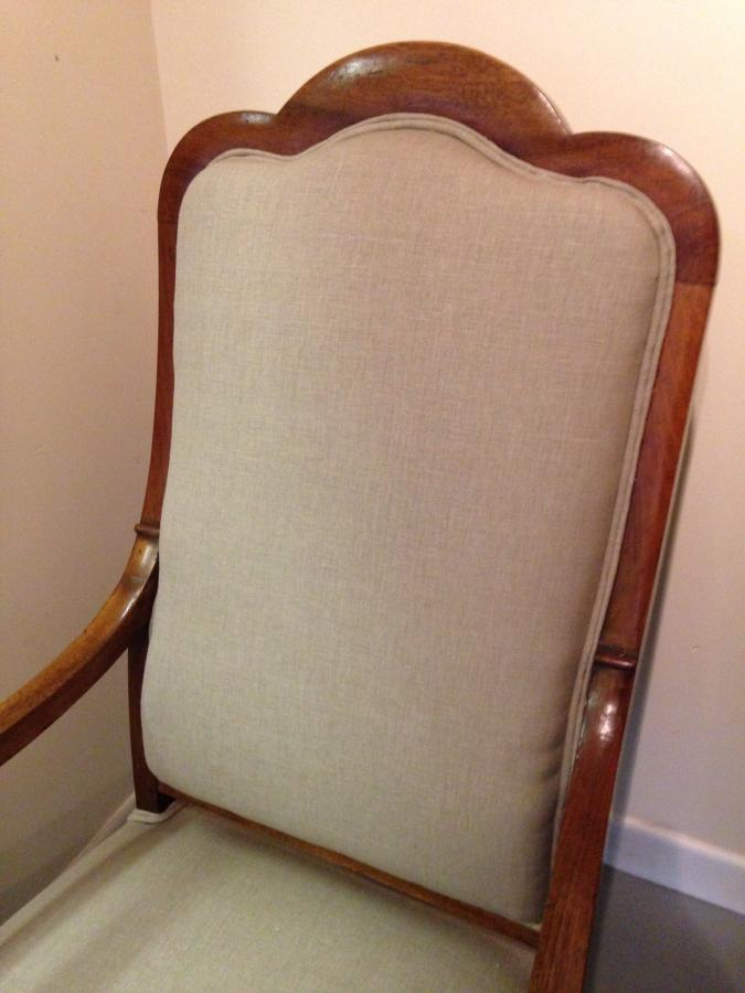 Two French Antique upholstered chairs