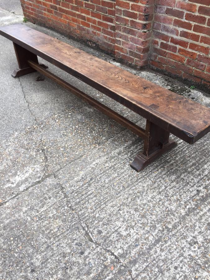 two wide elm large benches
