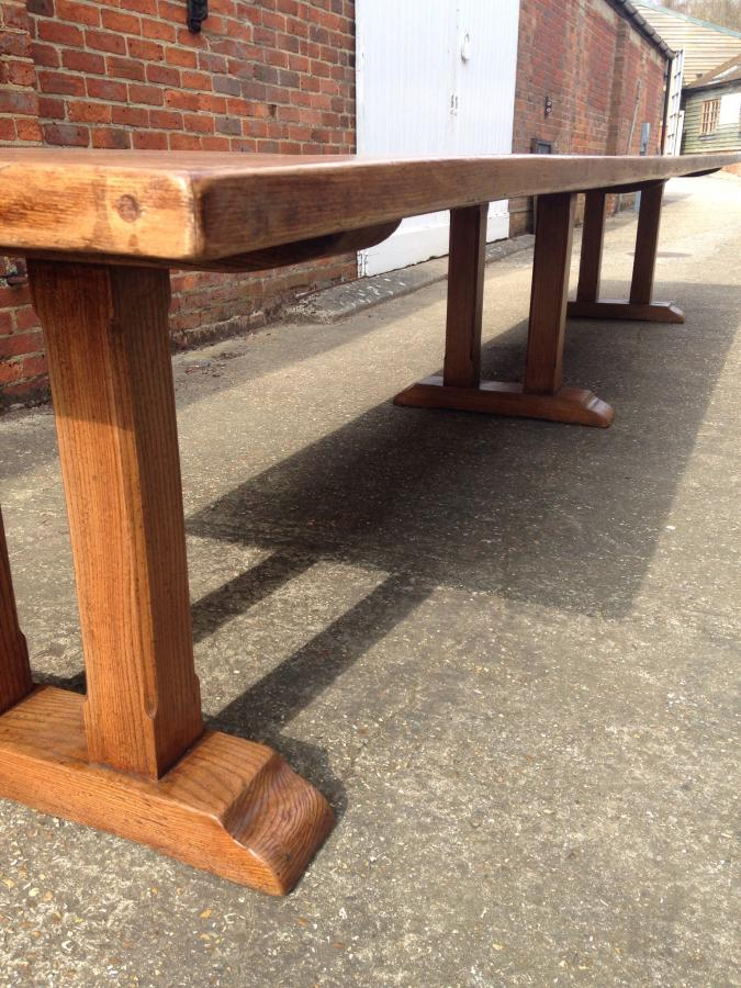 Very large elm refectory table