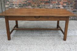 Wide antique oak Drapiers Table
